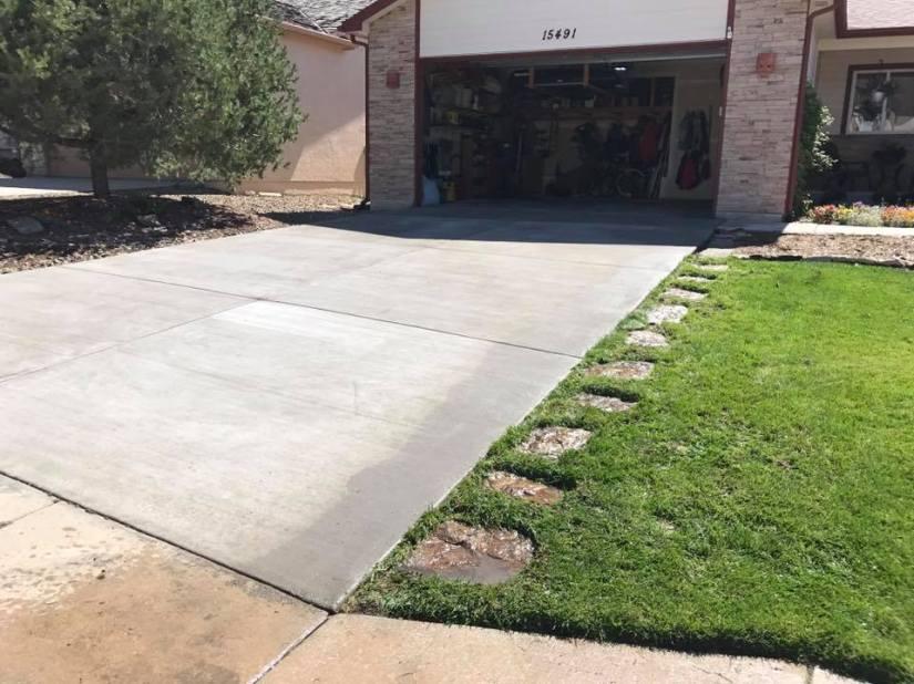 concrete driveway colorado springs
